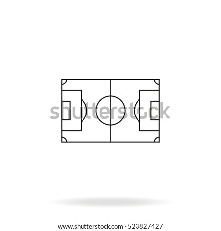 Soccer field vector icon simple flat em vetor stock 523827427 soccer field vector icon simple flat stadium pictogram ccuart Gallery