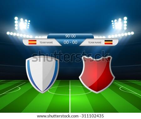Soccer field - Vector illustration - stock vector