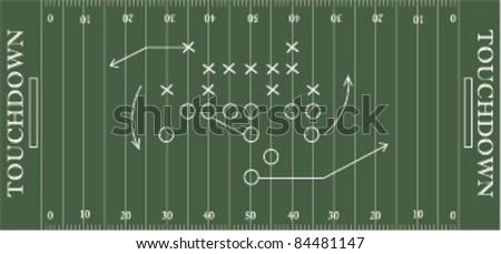 soccer field. vector illustration - stock vector