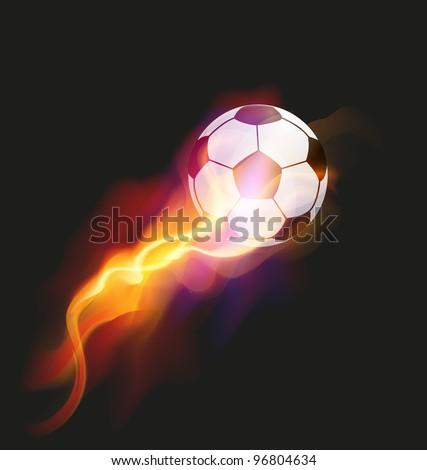 Soccer Fire Ball - stock vector