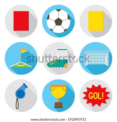 soccer flat icon - stock vector