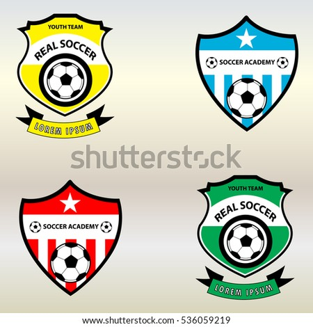 soccer football club logo badge