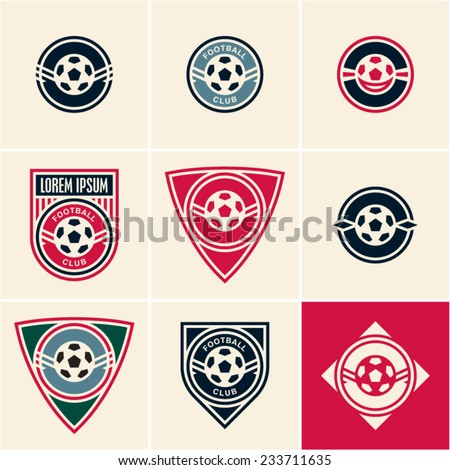 soccer football club logo emblem - stock vector