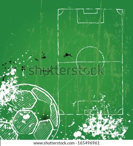 Soccer / Football design template,free copy space, vector  - stock vector
