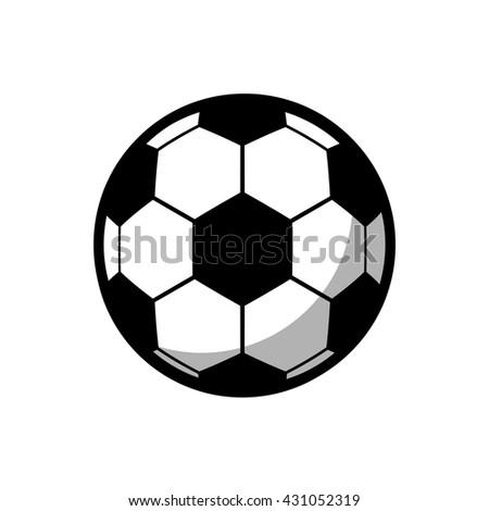 Soccer (Football) icon , Flat design vector illustration  - stock vector