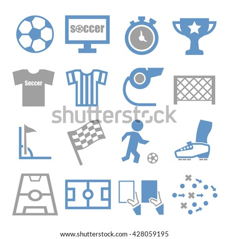 soccer, football icon set