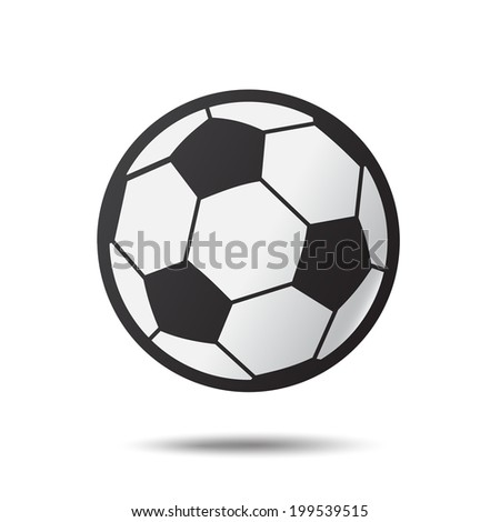 Soccer ( Football ) icons with shadow .Illustration EPS10 - stock vector