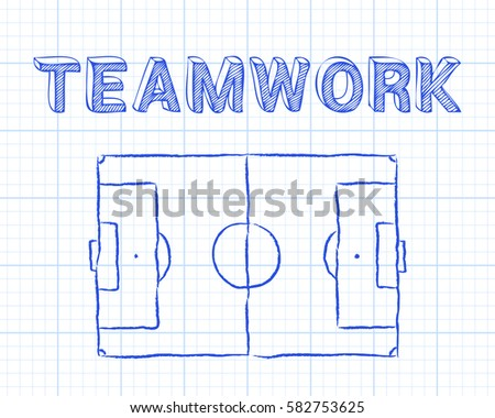 Soccer football pitch diagram teamwork word stock vector 582686836 soccer football pitch diagram and teamwork word on graph paper background ccuart Images