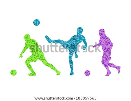 Soccer football player vector background concept