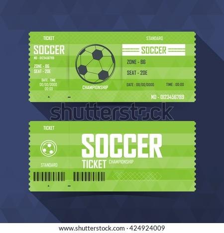 Soccer, Football Ticket, soccer sport. vector illustration - stock vector