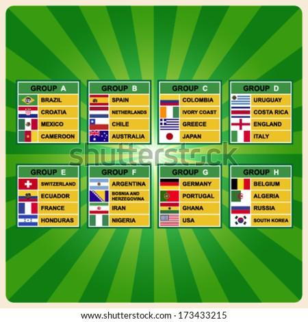 Soccer ( Football ) Tournament .Illustration eps10 - stock vector