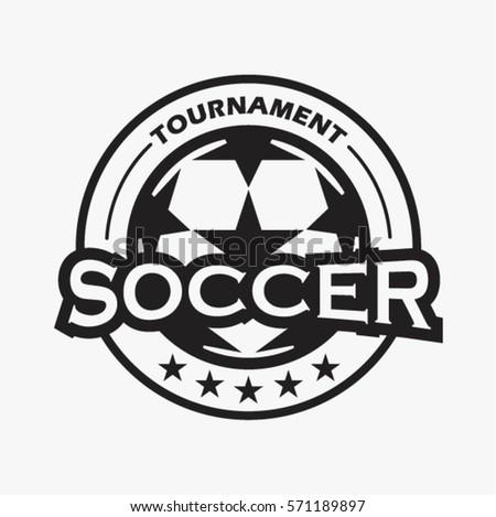 soccer football tournament logo badge vector stock vector