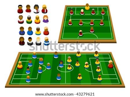 Soccer Formation Schema - stock vector