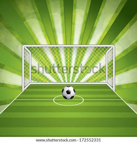Soccer goal and ball.Vector - stock vector