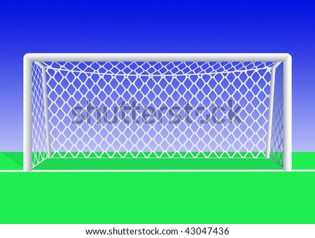 Soccer  goal  front view detailed. Vector illustration. - stock vector