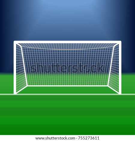 Soccer goal on stadium football post stock vector 2018 755273611 soccer goal on the stadium football post or gate with net vector illustration reheart Images