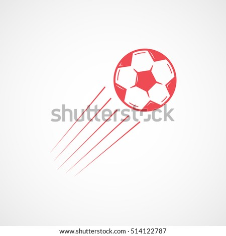 soccer goal red flat icon on stock vector 514122787 shutterstock