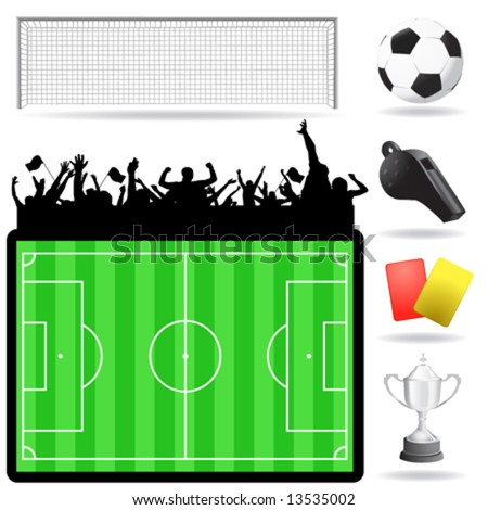 soccer great set vector - stock vector