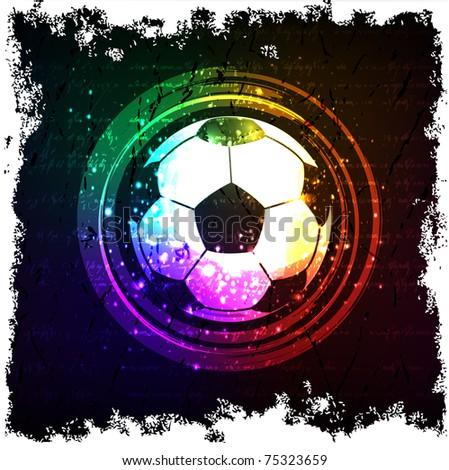 soccer grunge banner - stock vector