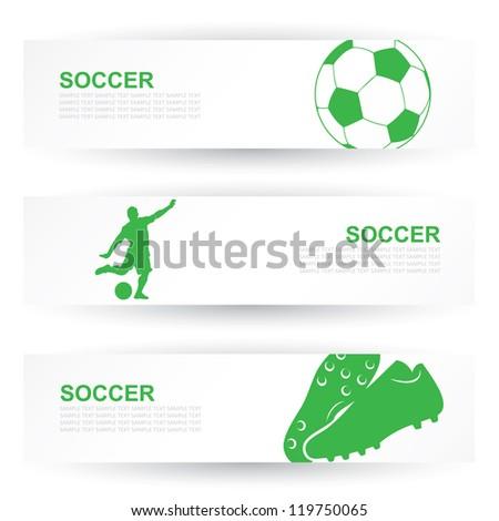 Soccer headers - vector illustration - stock vector