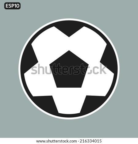 soccer icon, flat design - stock vector