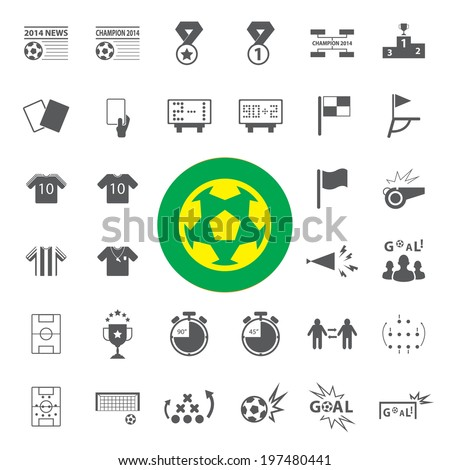 Soccer Icons set - stock vector