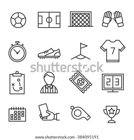 Soccer Icons set. Football - stock vector