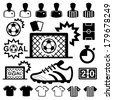 Soccer Icons set. Illustration eps10 - stock vector