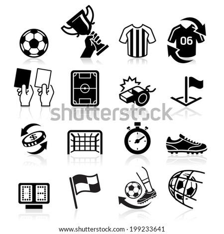 Soccer icons. Vector illustration - stock vector