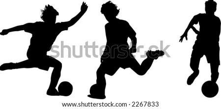 Soccer Kid Vector - stock vector