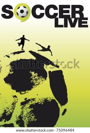 soccer live poster - stock vector