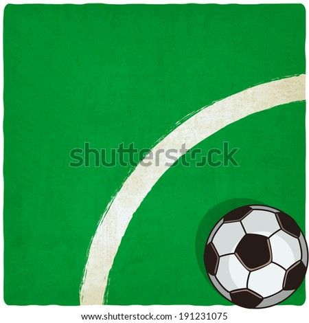 soccer old background - vector illustration. eps 10 - stock vector