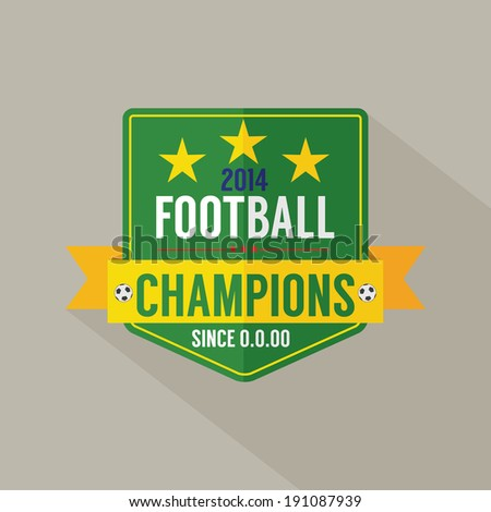 Soccer or Football Champions Badge - stock vector