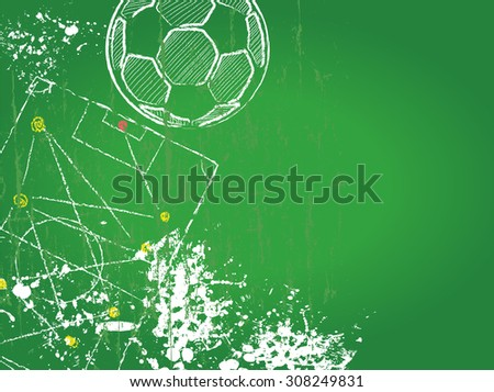 Soccer or Football design template, free copy space, fictional artwork - stock vector