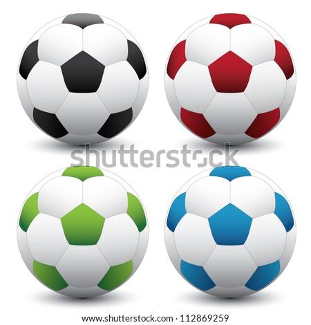 Soccer or football  set - stock vector