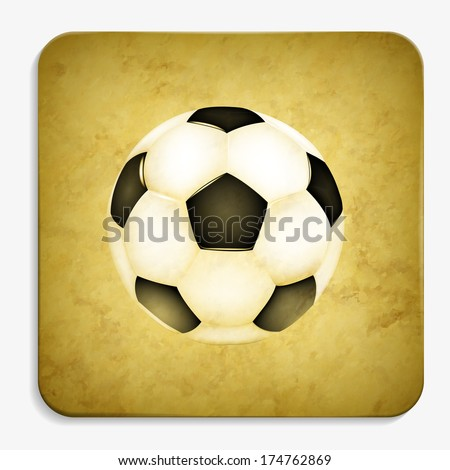 soccer parchment icon - stock vector