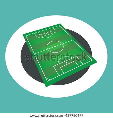 Soccer pitch-vector - stock vector