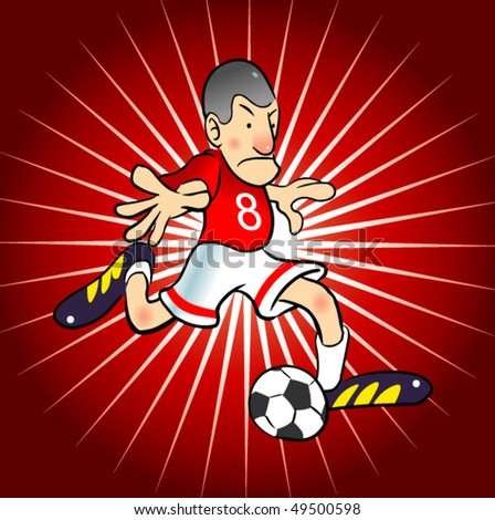 soccer player character - stock vector