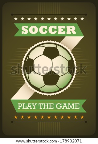 Soccer poster design. Vector illustration. - stock vector