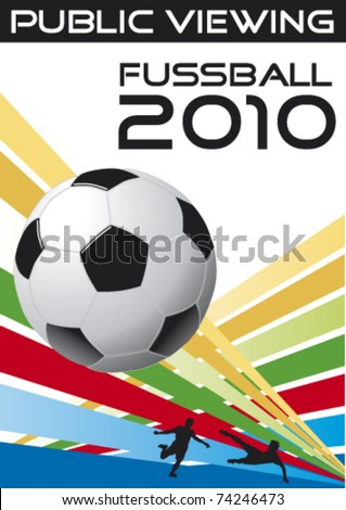 soccer poster public viewing - stock vector