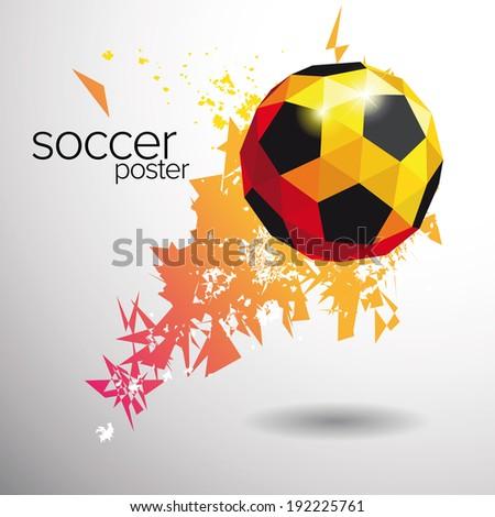 soccer poster vector - stock vector