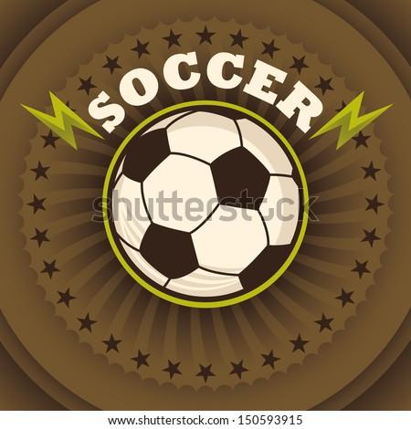 Soccer poster. Vector illustration. - stock vector
