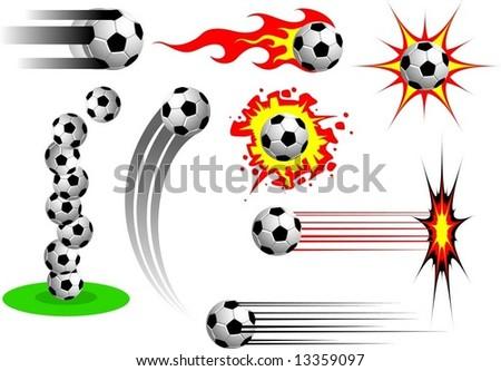 soccer's balls - stock vector