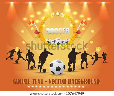 Soccer Shield Vector Design - stock vector