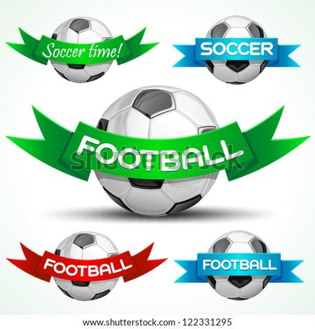 Soccer sign, vector illustration - stock vector