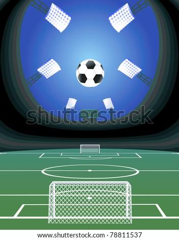 Soccer stadium. - stock vector