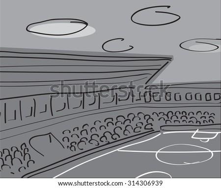 Soccer stadium vector illustration. - stock vector