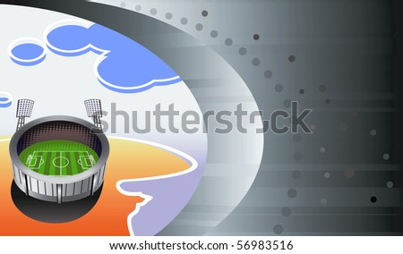 Soccer stadium - view from plane. Vector illustration. - stock vector