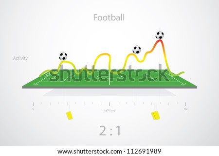 Soccer tactic activity table, score - stock vector