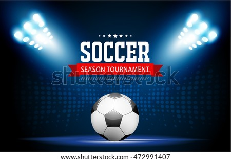 Soccer Tournament Modern Sport Posters Template Vector Design